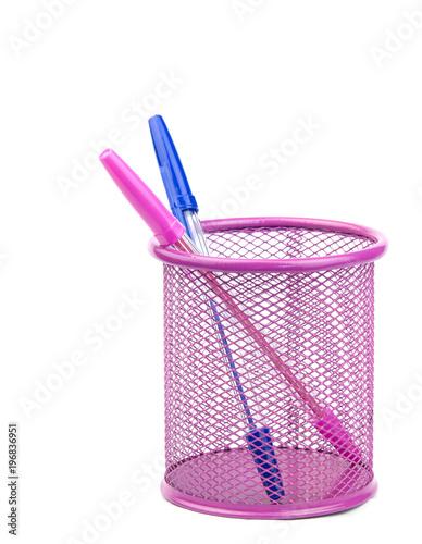 Fotografie, Obraz  pens in metal pot