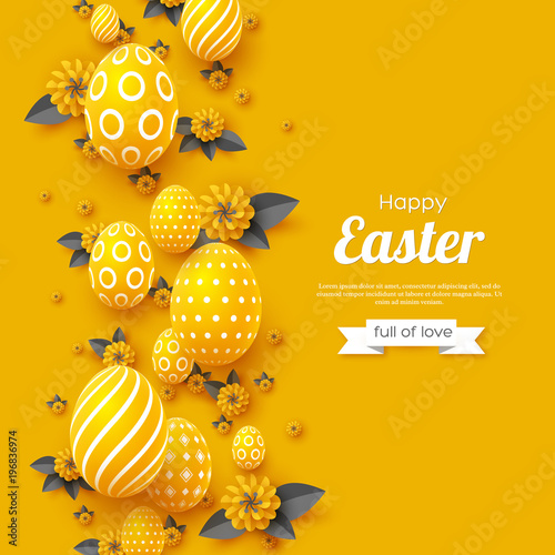 Canvas Print Easter holiday greeting card