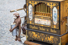 Old Barrel Organ With The Monk...