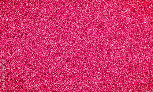 Obraz Pink glitter background texture banner. Vector pink glittery festive background for luxury gift card or holyday Christmas backdrop. Sparkle red confetti decoration design for premium design - fototapety do salonu