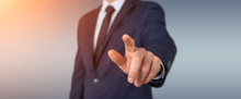 Businessman Pointing Finger