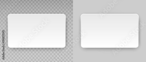 Fotografía  Vector clean web button, sticker, sheet, label, banner with rounded corners for