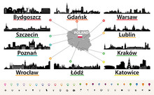 Vector Map Of Poland With Larg...