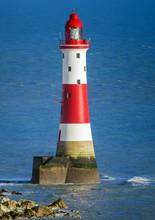 Close-up Study Of Beachy Head Lighthouse, Near Eastbourne, East Susswex, England