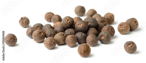 dried herb, allspice isolated on white Wallpaper Mural