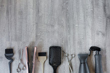 Hair Salon Accessories On A Wo...