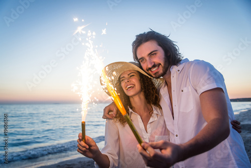 Fotografie, Obraz  Couple on a tropical beach