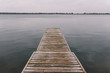 Wooden pier on the river