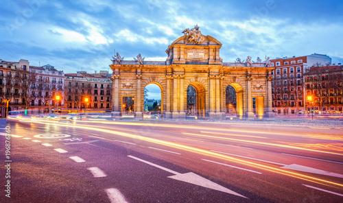 Spoed Fotobehang Madrid The Alcala Door (Puerta de Alcala)