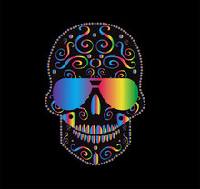 Skull Icon Gradient With Sungl...