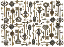 Vintage Fantasy Detailed Golden Keys