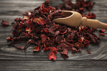 Heap Of Dry Hibiscus Tea With ...