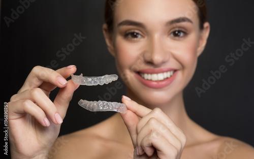 Valokuva  Taking care of teeth