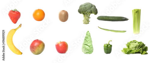 Keuken foto achterwand Verse groenten Lovely fruit and vegetables