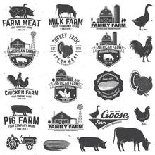 American Farm Badge Or Label. ...