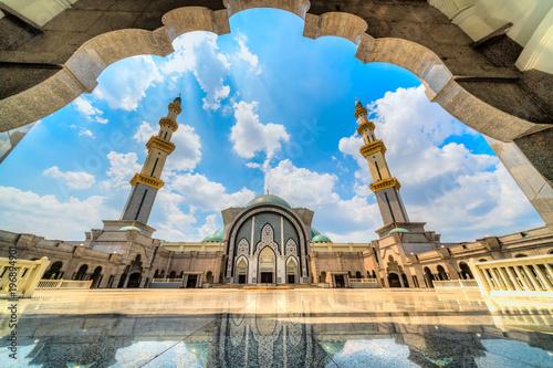 Putra Mosque, in Putrajaya federal territory, Kuala Lumpur, Malaysia.