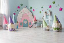 Baby Room Interior With Toy Ho...