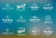 Set of Raster Beach Sea Bar Elements and Summer can be used as Logo or Icon in premium quality