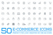 Leinwandbild Motiv Set of Raster E-Commerce Icons Shopping and Online can be used as Logo or Icon in premium quality