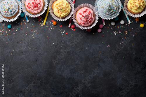 Photo Sweet cupcakes