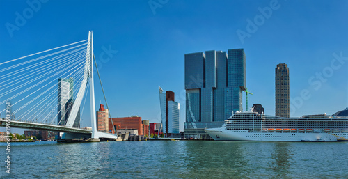 Photo Rotterdam cityscape, Netherlands