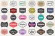 canvas print picture - Raster Set of Vintage Retro Styled Premium Design Labels