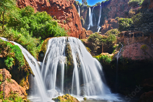 Recess Fitting Waterfalls Ouzoud Falls near the Grand Atlas village of Tanaghmeilt Morocco