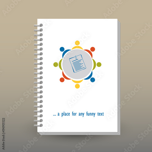 Brilliant Vector Cover Of Diary Or Notebook With Ring Spiral Binder Home Interior And Landscaping Ologienasavecom
