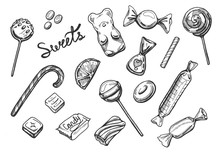 Sweets Candies Set