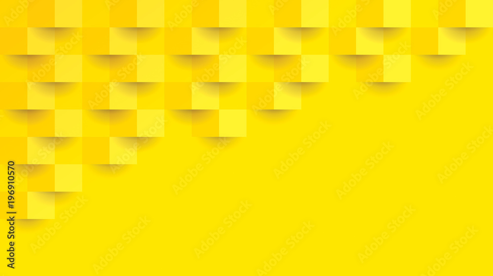 Fototapety, obrazy: Yellow abstract background vector with blank space for text.