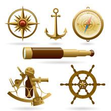 Vector Marine Navigation Icon ...
