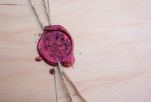 Sealing Wax Stamp With Word Love