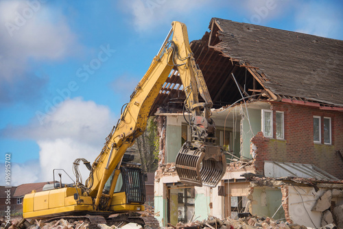 Fotografie, Obraz Demolition - Deconstruction - Construction site - Building site- Site Preparation