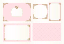 A Set Of Cute Pink Templates F...