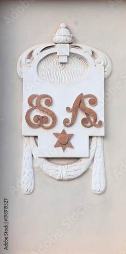 Fotografia, Obraz  Baroque plaster ornaments on historical building from 1908 in Magdeburg