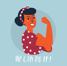 We Can Do It Poster. Strong Hi...