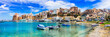 canvas print picture - Castellammare del Golfo - beautiful coastal town in Sicily. Italy