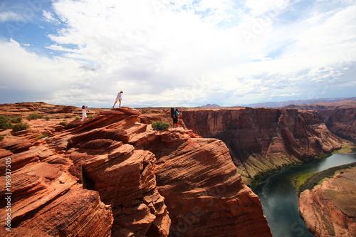 Papiers peints Marron Horseshoe Bend en Arizona, Grand Ouest des Etats-Unis