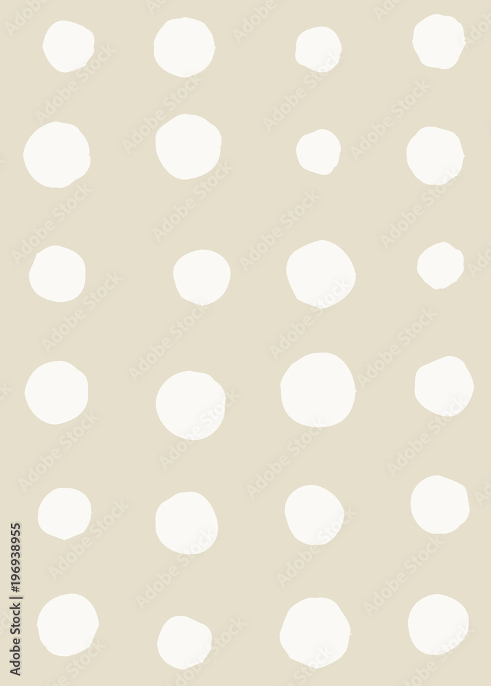 Fototapeta Irregular abstract retro modern dots or blobs circle pattern