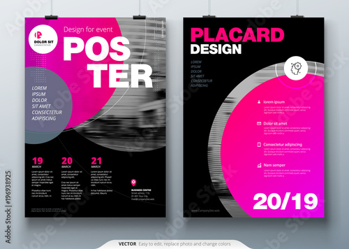 poster template layout design business poster placard background