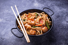 Stir Fry Noodles With Chicken,...