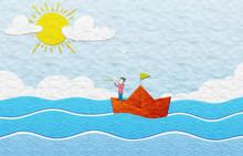 Marinaio Che Guarda L'orizzonte - Scena In Plastilina