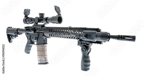 Photo  AR-15 on isolated