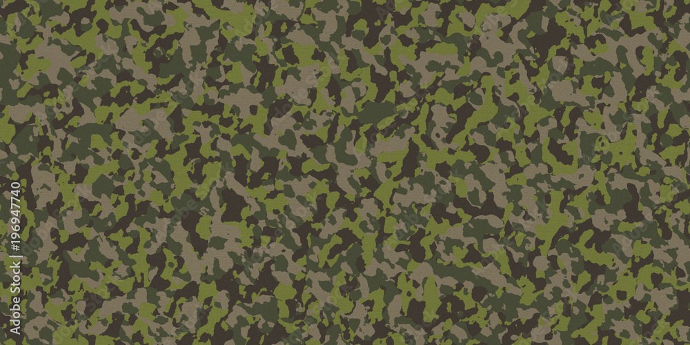 Photo Art Print Seamless Military Camouflage Fabric
