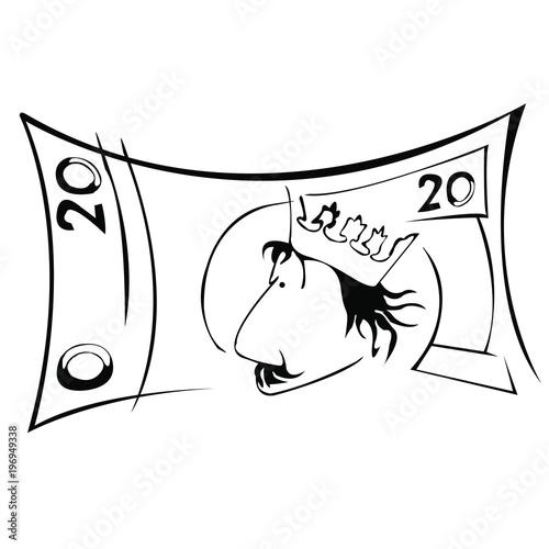 Fototapeta Banknot 20 obraz