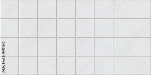 Fototapeten Künstlich Seamless White Square Tiles Background Texture