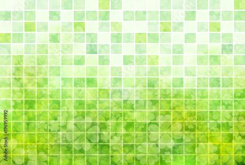 Foto auf AluDibond Lime grun クローバー 葉 緑 背景