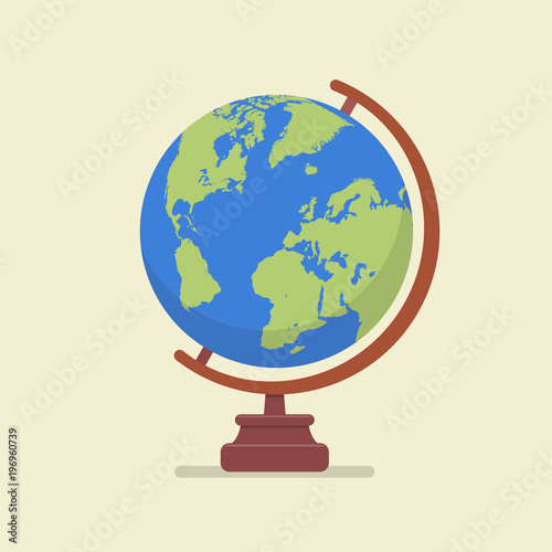 Earth globe model Wall mural