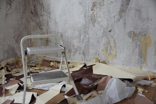 Renovierung Umzug Alte Tapeten Entfernen Buy This Stock Photo
