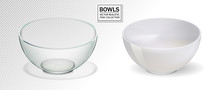 Glass And Ceramic Bowl Set Vec...
